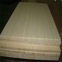Natural Colour and Vertical Pressed Bamboo Slabs as Furniture Facing