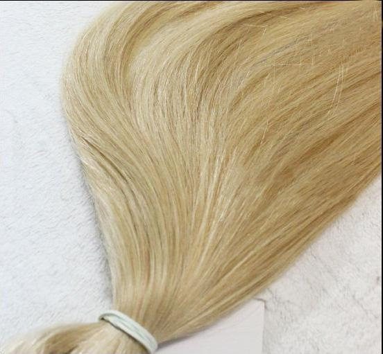 Quality Straight Blonde Brazilian Hair Weave Color 613# for sale