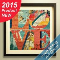 China 2015 New modern decorative abstract famous love painting wholesale