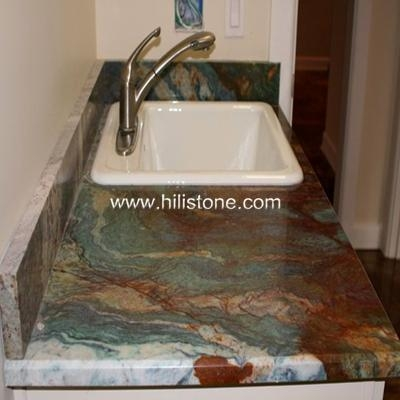 Quality Stone Vanity Tops Louise Blue Granite Vani for sale