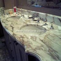 China Stone Vanity Tops Milky White Marble Vanit wholesale