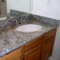 China Stone Vanity Tops Azul Aran Granite Vanity wholesale