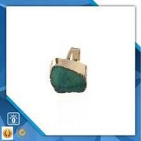 China 18k gold plate copper ring, natural druzy gemstone jewelry, german jewelry wholesale wholesale
