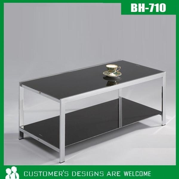 Bh 710 Black Tempered Glass Coffee Table Of Better Star