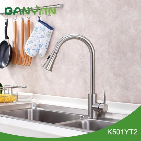 Yazi bathroom accessories kitchen pull out mixer tap for Bathroom accessories taps
