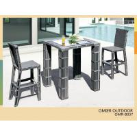 China modern garden wicker bar table set square bar height table OMR-B037 on sale