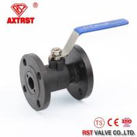 China Stainless Steel 1 Piece Reduce Port Flanged Ball Valve wholesale