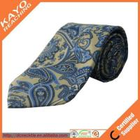 China fashion blue color printed paisley tie wholesale