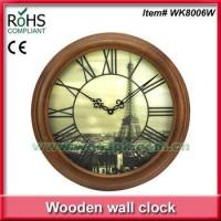 Wholesale Woodpecker antique art clock luxury wooden wall clock 3D clock from china suppliers