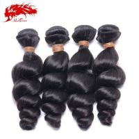 Ali Queen 4pcs Unprocessed India Loose Wave Natural Color Cheap Real Hair Extensions Free Shipping