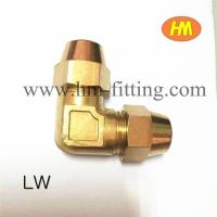 Buy cheap 90 degree flare elbow with swivel nut from wholesalers