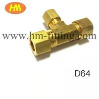 Buy cheap brass compression fitting reducing tee from wholesalers