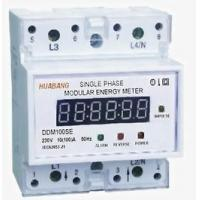 China DDM100SE Single-phase Two-wire Electronic DIN-rail Active Energy Meter (4-Pole, LED Display) wholesale