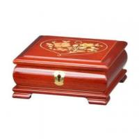 China Glossy Lacquer Wooden Jewelry Music Box with Lock wholesale