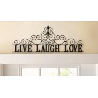 Wholesale Scrolling Live Laugh Love Metal Wall Art from china suppliers