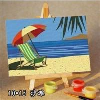 China sea cape oil painting by numbers -kid's painting kit-diy art set-sketching by numbers 10*15cm wholesale
