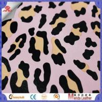 China New style multicolor leopard pattern brush backing imitation leather for bags wholesale