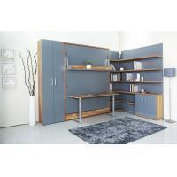 China MDF With Melamine Modern Wall Bed With Bookshelf And Table For Home And Hotel wholesale