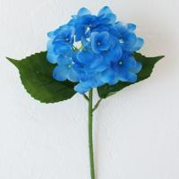 "China Soft Touch Small Hydrangea Stem in Blue - 26"" Tall x 6"" Wide wholesale"