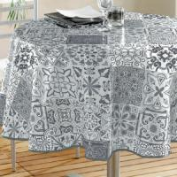 China Round Vinyl Tablecloth on sale