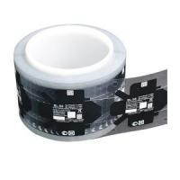 Black printed Watch battery clear PET label sticker