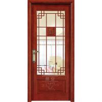 China China style glass insert solid wood interior timber doors on sale