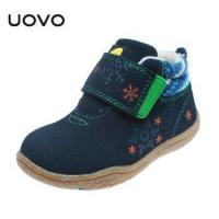 China UOVO Soft Sole Little Kids Shoes Cow Suede Children Shoes Autumn Toddler Girls Boys wholesale