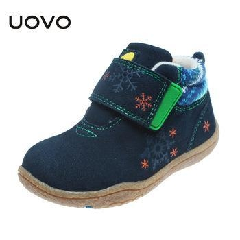 China UOVO Soft Sole Little Kids Shoes Cow Suede Children Shoes Autumn Toddler Girls Boys