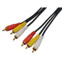 China 3 RCA to 3RCA cable Moudled, nickelplated connector (model:3RCA002) wholesale