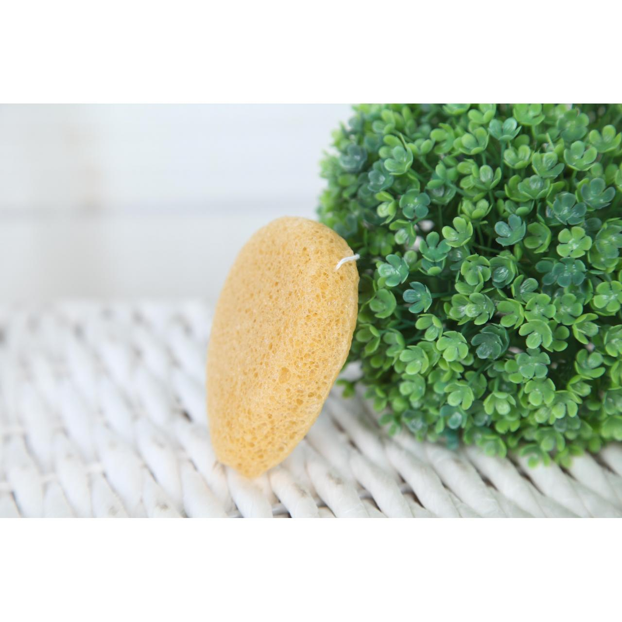 Water drop shape-Lemon konjac sponge