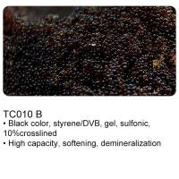 TC010 B Black color high cross linkage gel type strong acid cation exchange resin