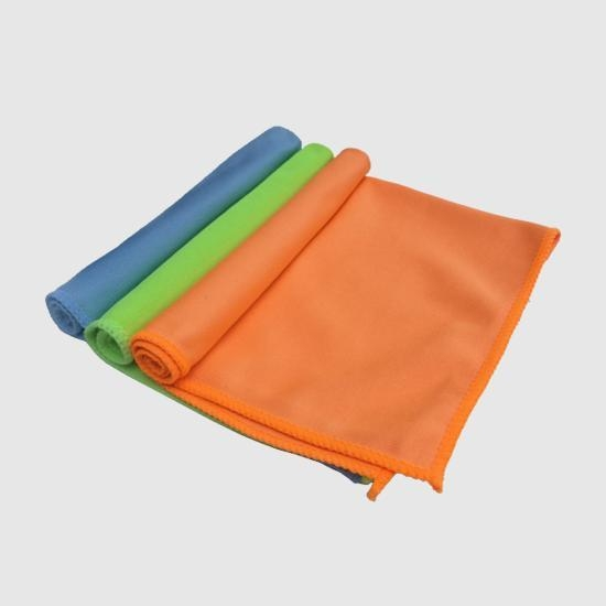 China colorful microfiber glass cleaning cloth car window glass microfiber cloth