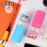 popular and personality glass straw cup