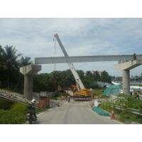 China Mobile Crane 100t crane unload 10 i beam on sale