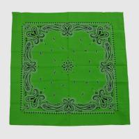 Buy cheap Green Cotton Bandana with Printing from wholesalers