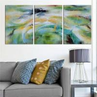 China Framed Wall Art Colorful City Painting wholesale