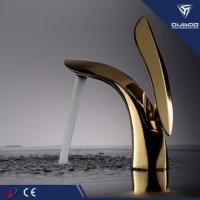 China Attractive Golden Basin Tap Mixer Faucet For Bathroom wholesale
