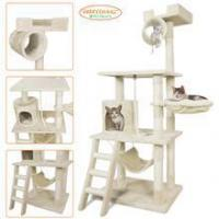 Pet Palace Cat Tree Kitten Activity Tower Condo with Hammock, Deluxe Scratching Posts