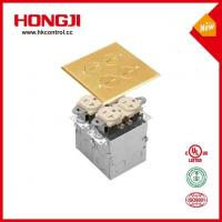 China Dual Series Flip Lid Floor Box With Two Receptacle Electrical Outlet Cover wholesale