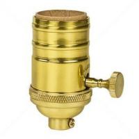 E26 brass light bulb sockets smooth skirt with switch