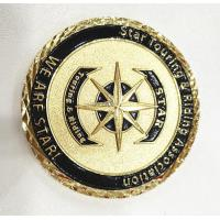 China Brass Gold Customize Challenge Coins Souvenirs With Diamond Cut Edge wholesale