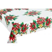 China Vinyl Christmas Tablecloths Flannel Backed wholesale