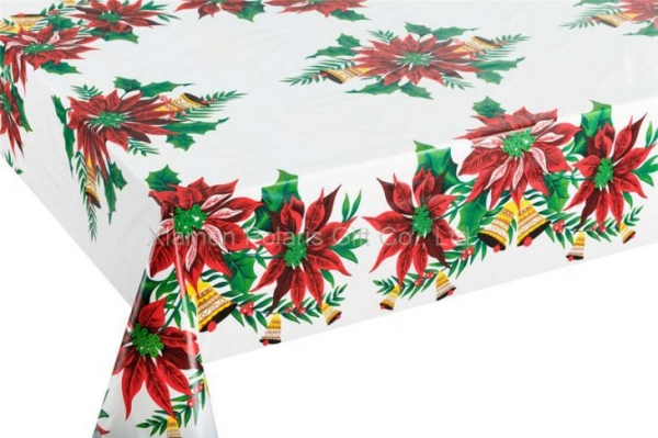 China Vinyl Christmas Tablecloths Flannel Backed