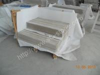 Buy cheap Marble White Wooden Marble from wholesalers