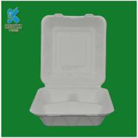 Buy cheap Biodegradable Three Compartment Food Box from wholesalers