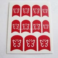 Wholesale butterfly nail art stencil sticker hollow out nail decals