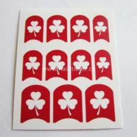 Wholesale DIY hollow out clover nail sticker designed template for nail art 3d n