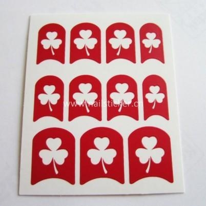 Quality Wholesale DIY hollow out clover nail sticker designed template for nail art 3d n for sale