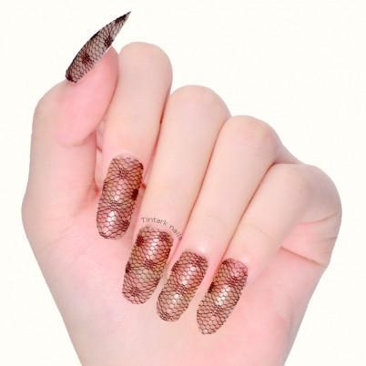 Quality ODM wholesale sexy black real lace nail wrap 2D nail art sticker supplier for sale