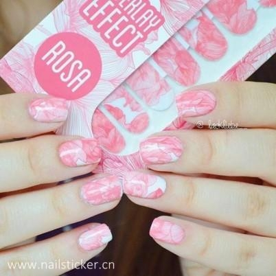 Quality China Large Printing Waterproof Blossom Nail Wraps for sale